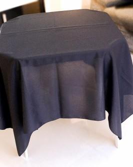 Aluguel de toalha quadrada preta