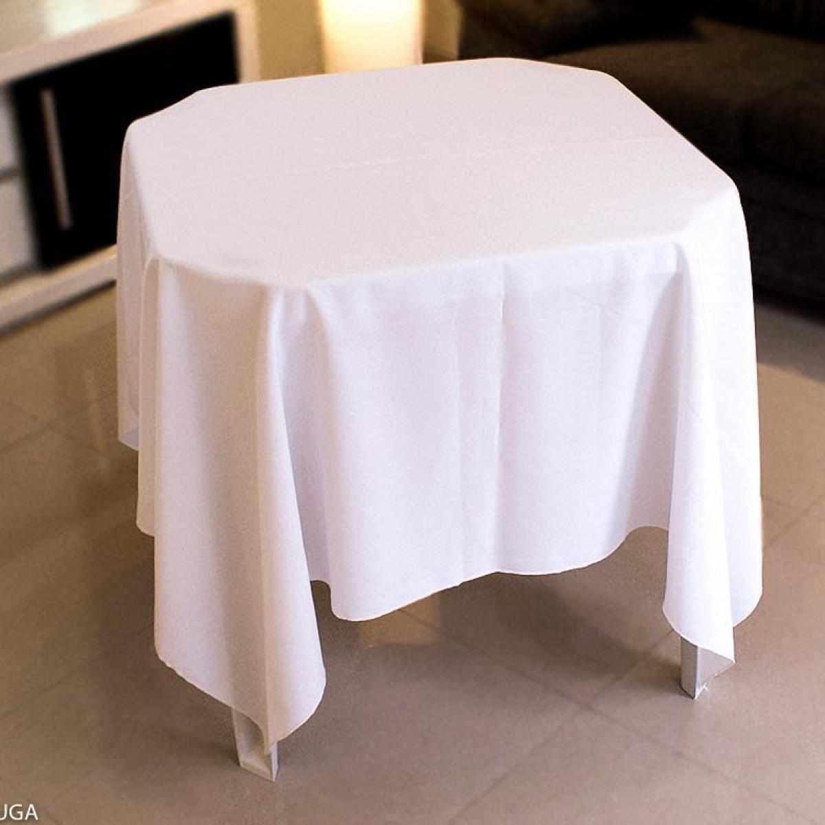 Detalhes do produto Aluguel de toalha quadrada branca