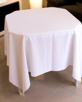 Aluguel de toalha quadrada branca