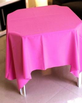 Aluguel de toalha quadrada rosa
