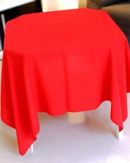 Aluguel toalha quadrada vermelha