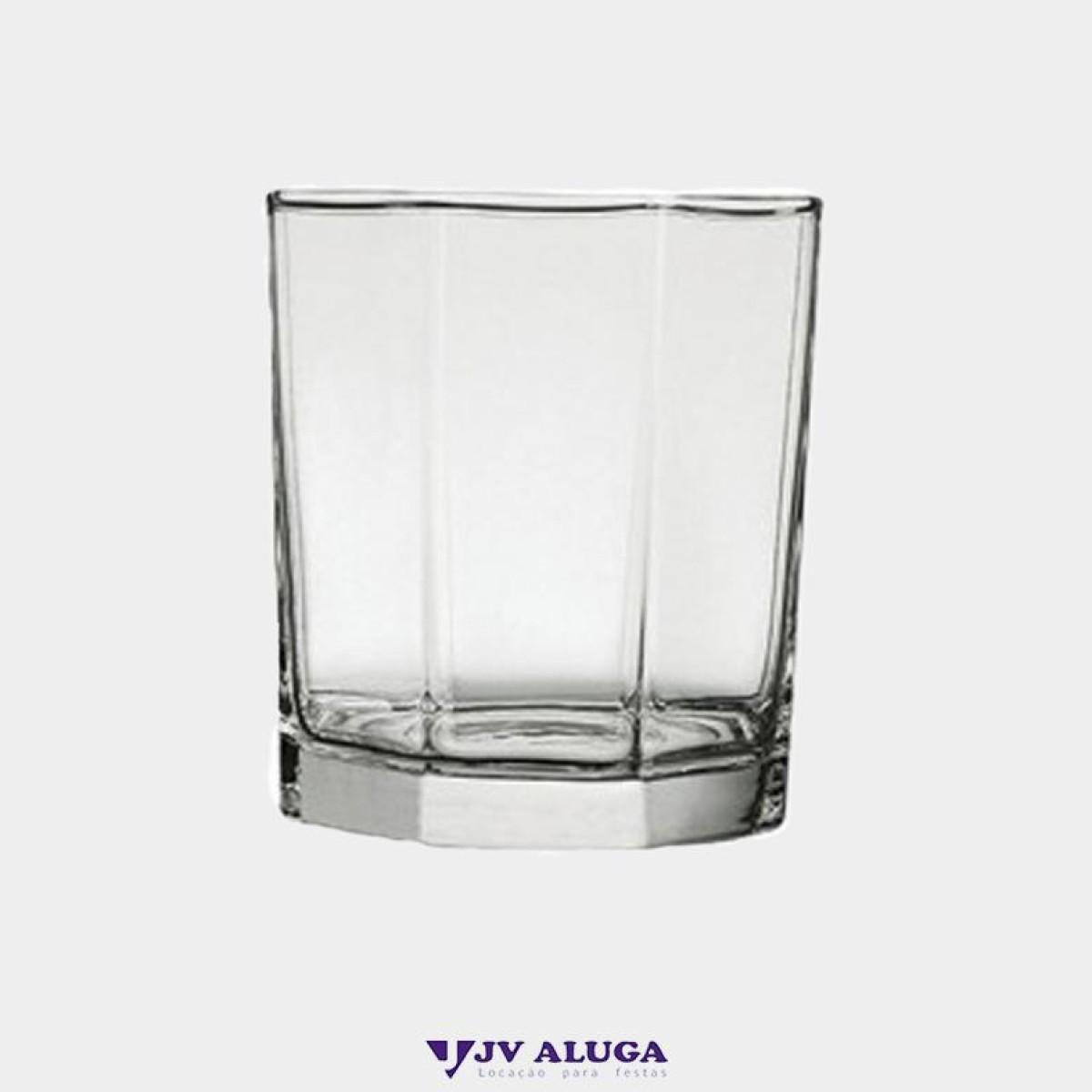 Detalhes do produto Aluguel copo de vidro geometria rocks