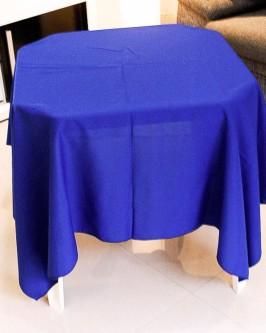 Aluguel de toalha quadrada azul