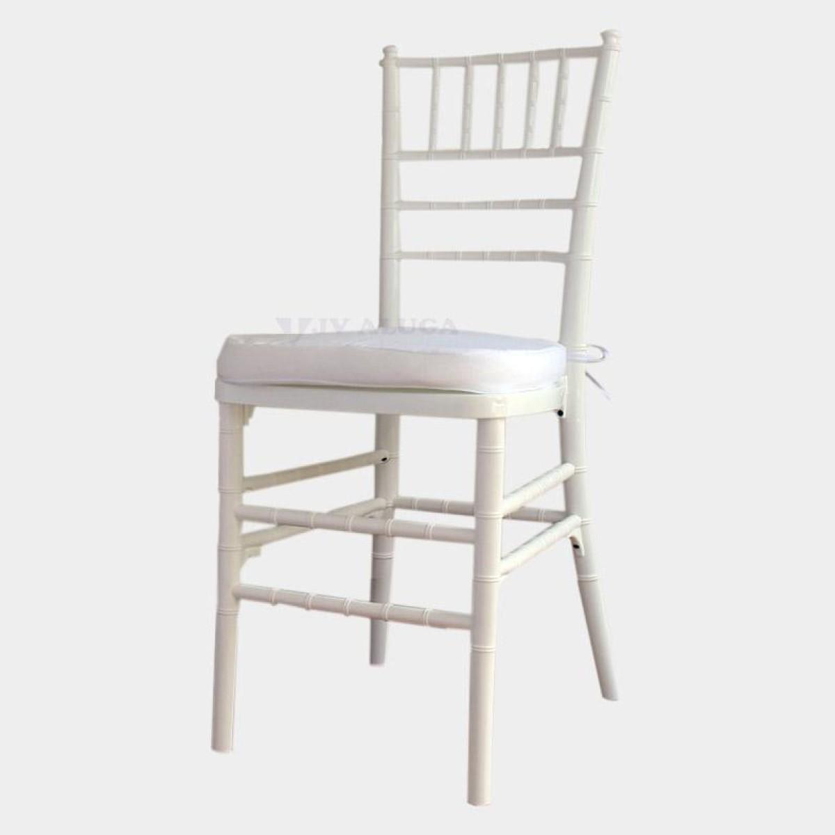 Detalhes do produto Aluguel Cadeira Tiffany Branca