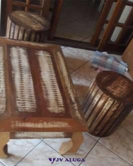 Aluguel banco de madeira de demolição