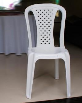 Cadeiras de PVC, Branca