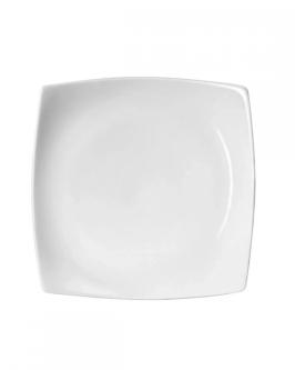 Prato Sobremesa Square Quadrado de Porcelana