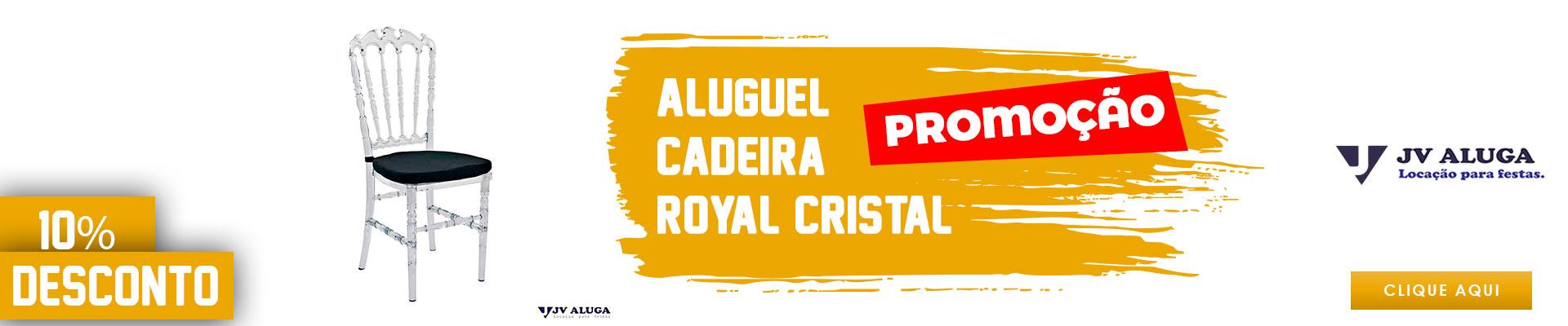 Aluguel Cadeira Royal Cristal