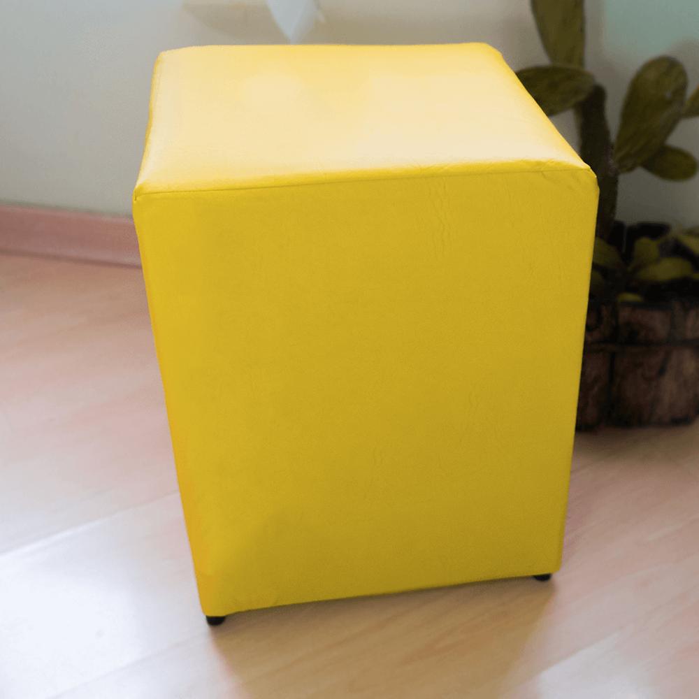 Detalhes do produto Aluguel Puff Quadrado Tradicional Amarelo