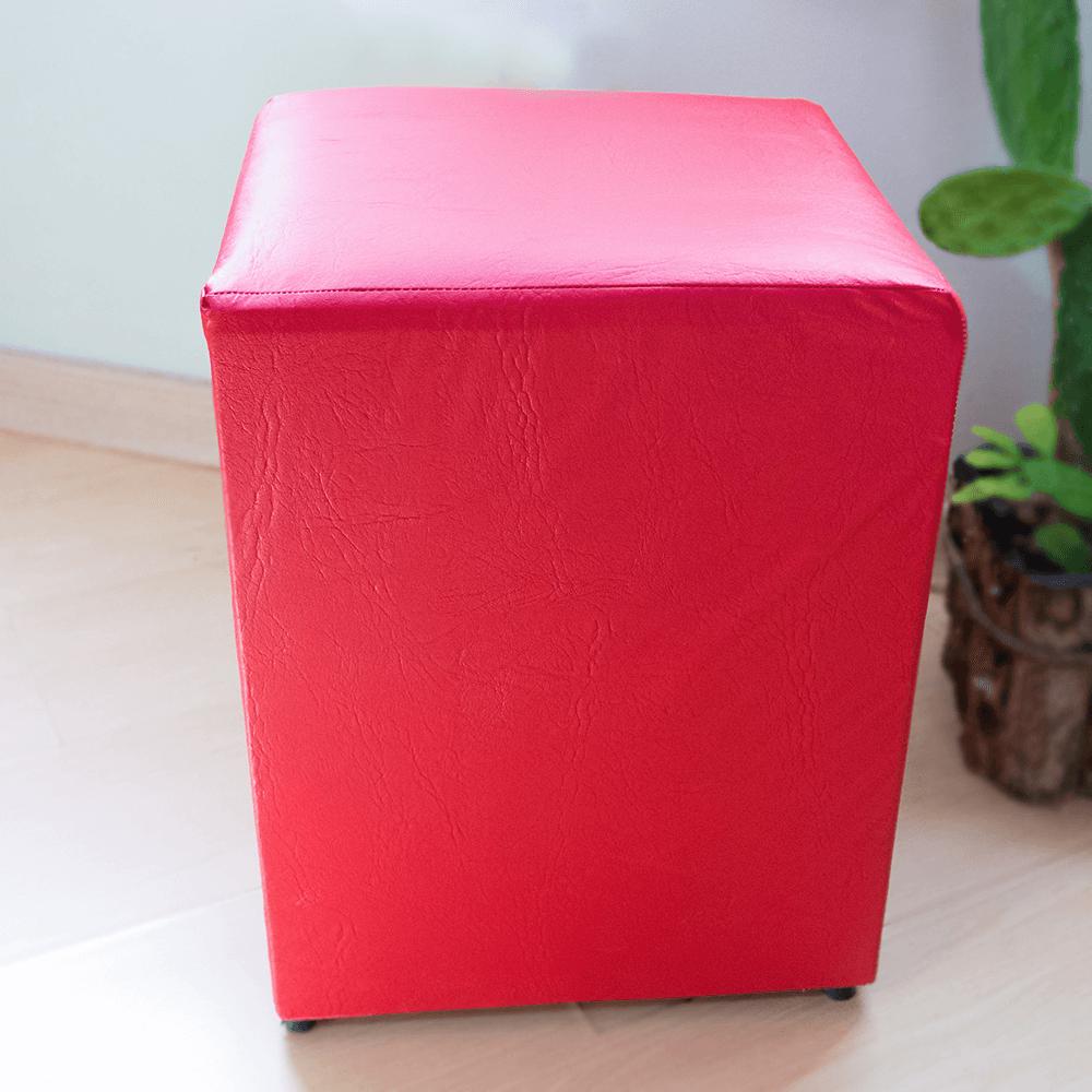 Detalhes do produto Aluguel Puff Quadrado Tradicional Vermelho