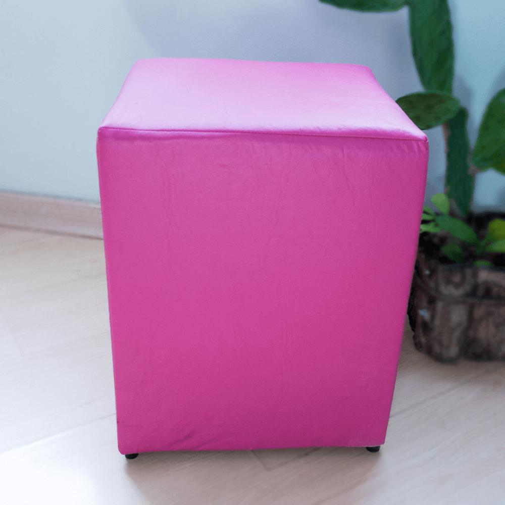 Detalhes do produto Aluguel Puff Quadrado Tradicional Rosa