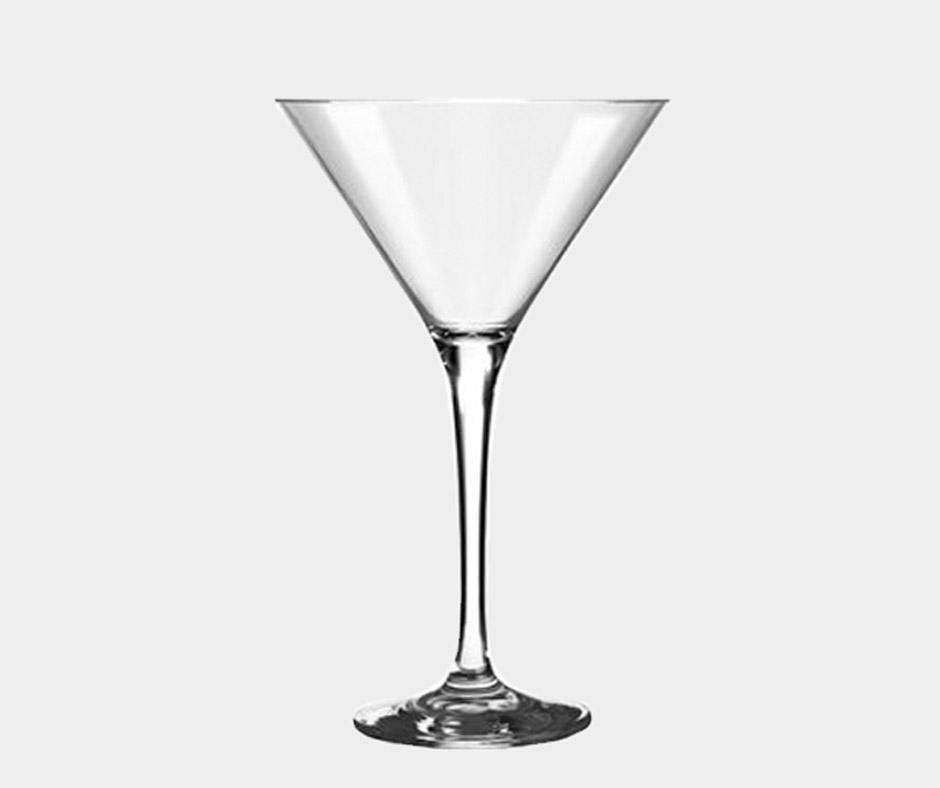 Detalhes do produto Aluguel taça de vidro para martini