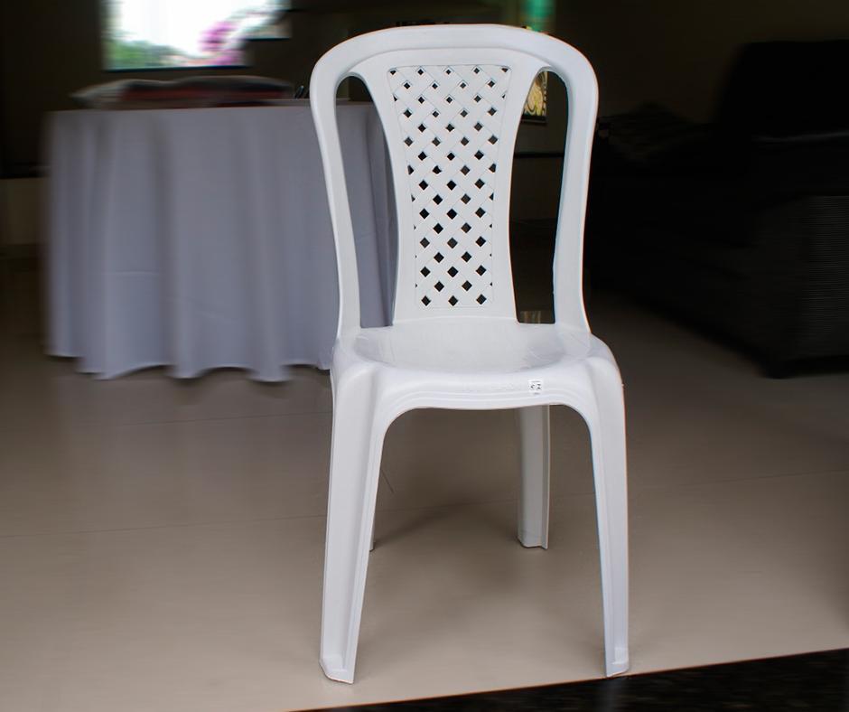 Detalhes do produto Cadeiras de PVC, Branca