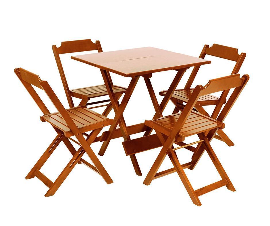 Detalhes do produto Conjunto de mesa quadrada de madeira 70X70