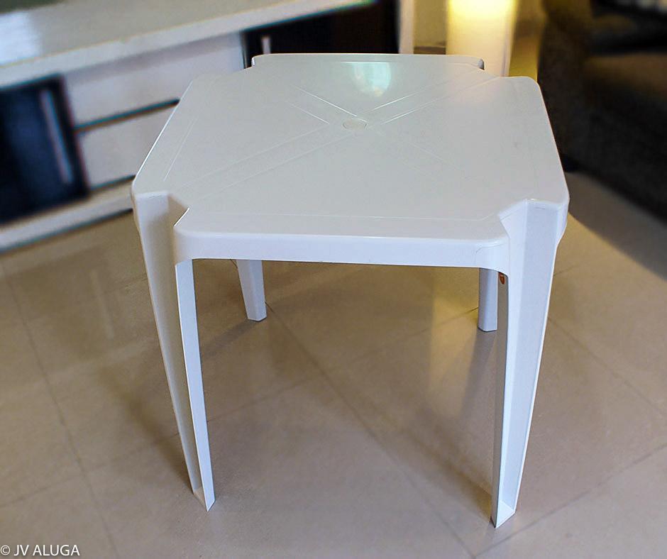 Detalhes do produto Mesa quadrada de plástico (PVC) 70x70