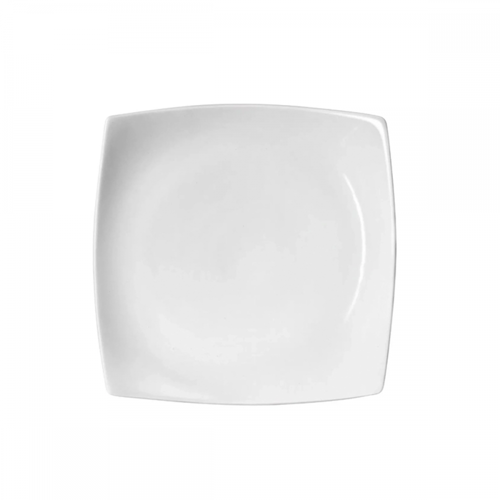 Detalhes do produto Prato Sobremesa Square Quadrado de Porcelana